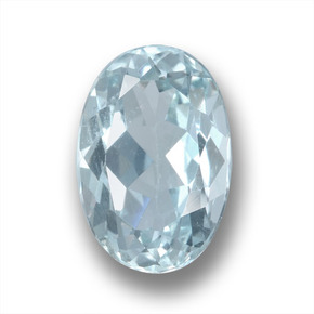 1.9ct Oval Facet Light Blue Aquamarine Gem (ID: 458923)