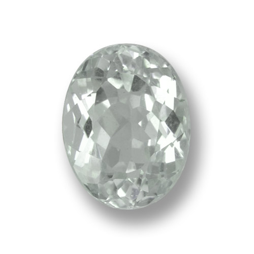 Very Light Greenish White Aguamarina Gema - 2.1ct Forma ovalada (ID: 459217)