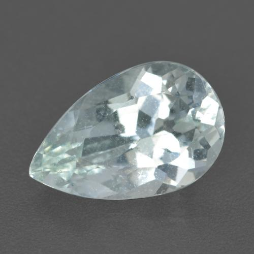 Very Light Greenish White Aguamarina Gema - 2.4ct Corte en forma de pera (ID: 459219)