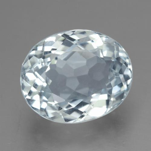 Light Blue Aquamarine Gem - 2.9ct Oval Facet (ID: 459220)