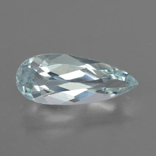 Light Blue Aquamarine Gem - 2.8ct Pear Facet (ID: 459227)