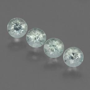 Greenish White Aquamarine Gem - 0.4ct Round Facet (ID: 464804)