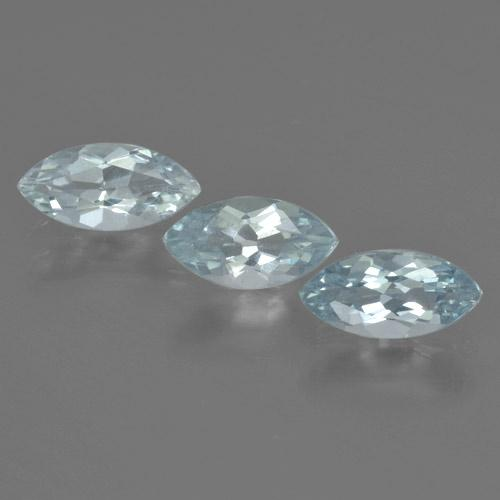 Sky Blue Aquamarine Gem - 0.5ct Marquise Facet (ID: 464872)
