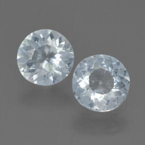 0.7ct Round Facet Light Blue Aquamarine Gem (ID: 464946)