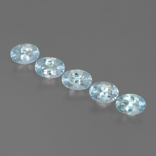 Light Blue Aquamarine Gem - 0.5ct Oval Facet (ID: 465182)
