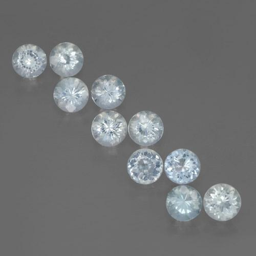 Pale Blue Aquamarine Gem - 0.4ct Round Facet (ID: 465865)