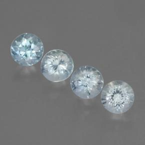0.8ct Round Facet Light Blue Aquamarine Gem (ID: 466057)