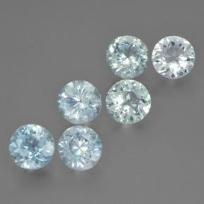 0.6ct Round Facet Light Blue Aquamarine Gem (ID: 466090)