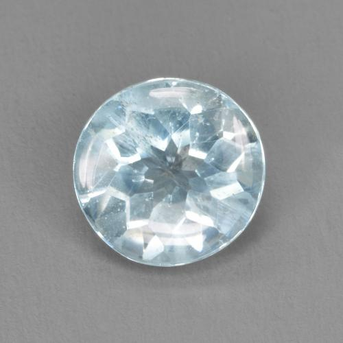 Light Blue Aquamarine Gem - 1.5ct Round Facet (ID: 479266)