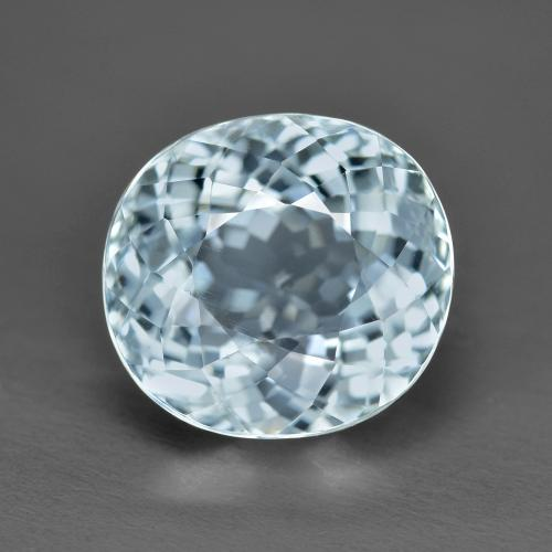 Light Blue Aquamarine Gem - 6.2ct Oval Portuguese-Cut (ID: 486953)