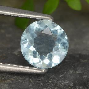 thumb image of 0.6ct Round Facet Light Blue Aquamarine (ID: 494976)