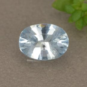Light Blue Aquamarine Gem - 0.4ct Oval Facet (ID: 497376)