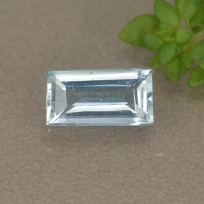 Light Blue Aquamarine Gem - 0.4ct Baguette Step Cut (ID: 497377)