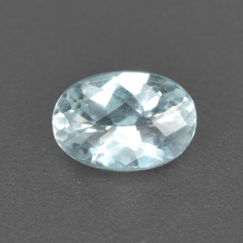 0.4ct Oval Checkerboard Light Blue Aquamarine Gem (ID: 497378)