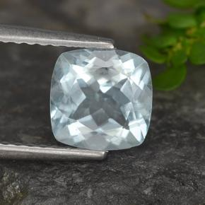 Light Blue Aquamarine Gem - 1.2ct Cushion-Cut (ID: 497382)