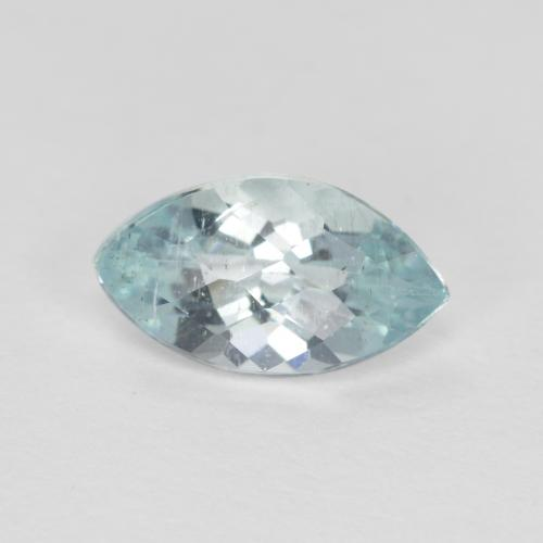 0.7ct Marquise Checkerboard Light Blue Aquamarine Gem (ID: 497388)