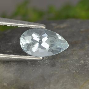 Light Blue Aquamarine Gem - 0.6ct Pear Facet (ID: 497437)