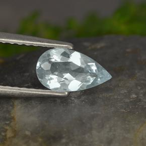 Light Blue Aquamarine Gem - 0.5ct Pear Facet (ID: 497438)