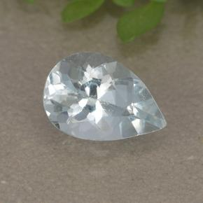 Light Blue Aquamarine Gem - 0.7ct Pear Facet (ID: 497441)