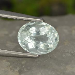 Light Greenish Blue Aguamarina Gema - 0.9ct Forma ovalada (ID: 497683)