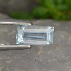 0.4ct Baguette Step Cut Light Blue Aquamarine Gem (ID: 497765)