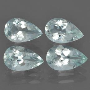 Light Blue-Green Aquamarin Edelstein - 0.8ct Birnen Schliff (ID: 502069)