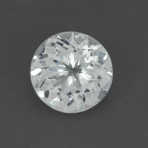 Bluish White Aquamarine Gem - 2.2ct Round Facet (ID: 509750)