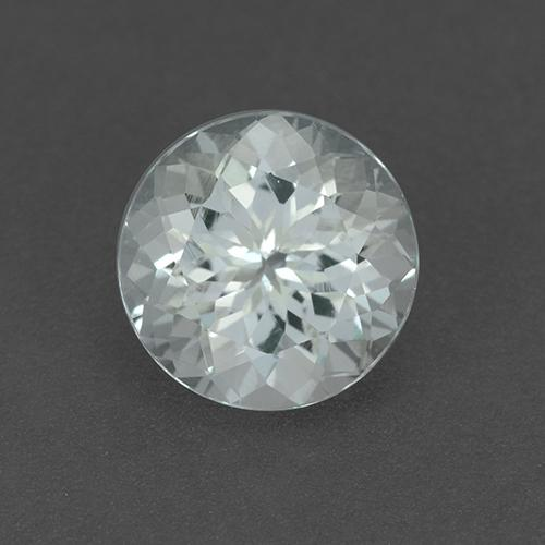 Bluish White Aquamarine Gem - 2ct Round Facet (ID: 509752)