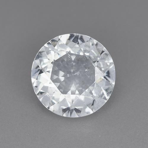 Bluish White Aquamarine Gem - 2ct Round Facet (ID: 514299)