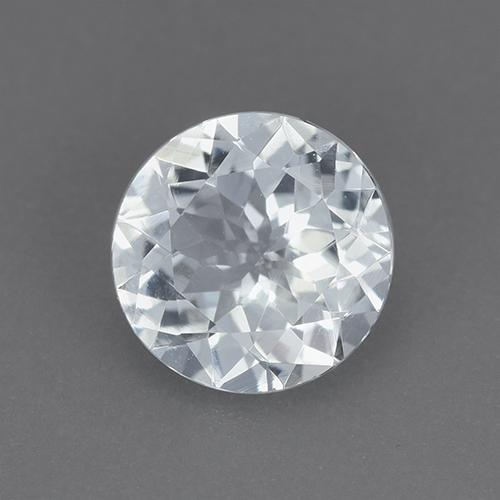 Bluish White Aquamarine Gem - 1.1ct Round Facet (ID: 515454)