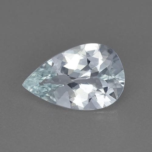 Bluish White Aquamarine Gem - 1.4ct Pear Facet (ID: 515457)