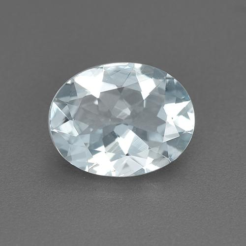 Light Blue Aquamarine Gem - 1.2ct Oval Facet (ID: 517594)