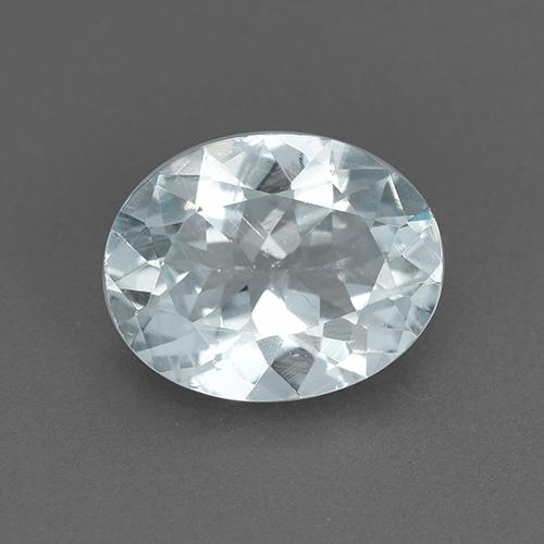 Light Blue Aquamarine Gem - 1.5ct Oval Facet (ID: 517601)