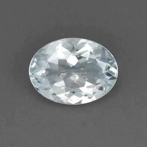 Light Blue Aquamarine Gem - 1ct Oval Facet (ID: 519865)
