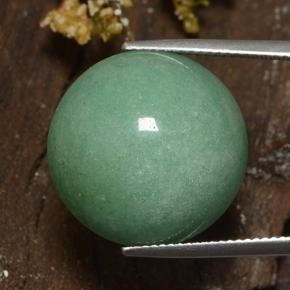 Medium Green Aventurine Gem - 24.2ct Round Cabochon (ID: 483840)
