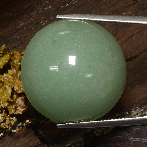 thumb image of 48.1ct Round Cabochon Green Aventurine (ID: 483953)