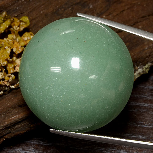 thumb image of 80.2ct Round Cabochon Green Aventurine (ID: 483955)