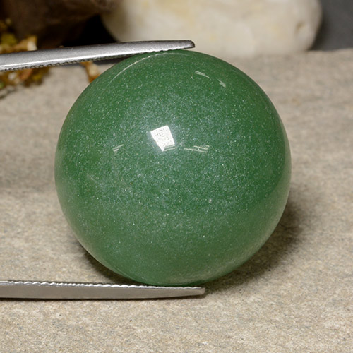 thumb image of 47.2ct Round Cabochon Green Aventurine (ID: 485119)