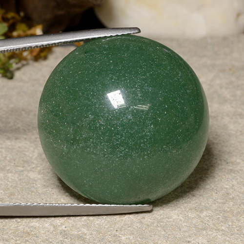 thumb image of 47.1ct Round Cabochon Green Aventurine (ID: 485120)