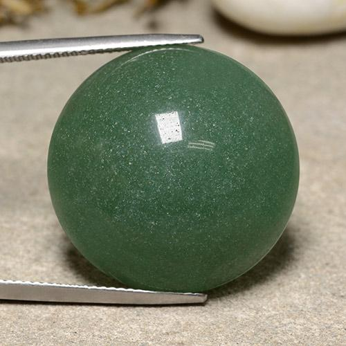 Medium Green Aventurine Gem - 43.2ct Round Cabochon (ID: 485403)
