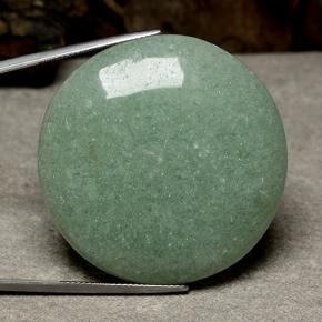 thumb image of 87.5ct Round Cabochon Green Aventurine (ID: 488597)