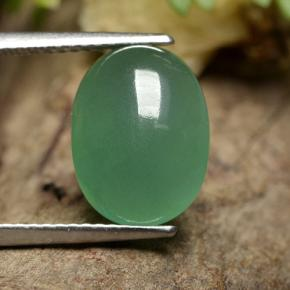 thumb image of 4.4ct Oval Cabochon Green Aventurine (ID: 496858)