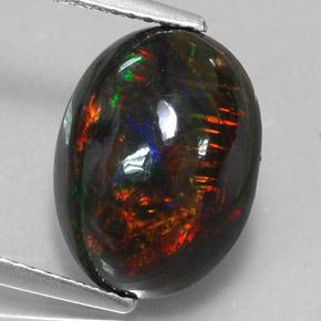 3 8 Carat Multicolor Black Opal Gem From Ethiopia