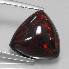 Multicolor Black Opal 4 Carat Trillion From Ethiopia Gemstone