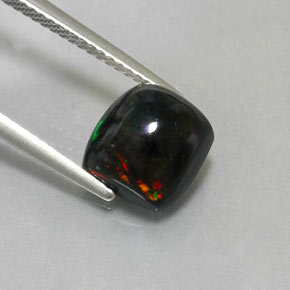 Buy 2.40 ct Multicolor Black Opal 8.83 mm x 8.2 mm from GemSelect (Product ID: 324452)