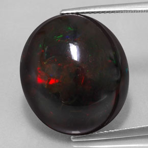 Black Opal 17 7 Carat Oval From Ethiopia Gemstone