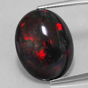 8 6 Carat Oval 18 9x15mm Black Opal Gemstone