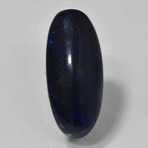 Multicolor Black Opal Gem - 2.3ct Oval Cabochon (ID: 501123)
