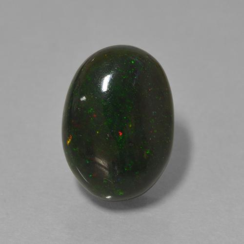 Multicolor Black Opal Gem - 1.6ct Oval Cabochon (ID: 501349)