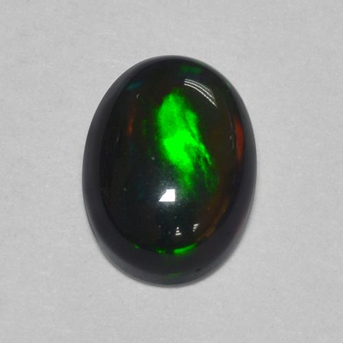 1ct Oval Cabochon Multicolor Black Opal Gem (ID: 514152)